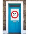 21 jaar stopbord poster A1