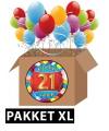 21 jaar feest versiering voordeelbox XL