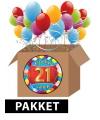 21 jaar feest versiering voordeelbox
