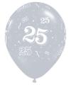 Zilveren ballonnen 25 Qualatex 25 stuks