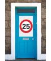 25 jaar stopbord poster A1