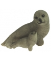 Polystone beeldje zeehond 11 cm