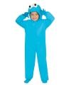 Carnavalskostuum blauw monster kids