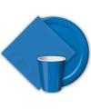 Wegwerp borden blauw 23 cm
