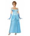 Prinsessen jurk blauw