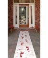 Witte loper met bloed afdrukken 60 x 300 cm