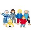 Buigbare poppen familie 6 stuks