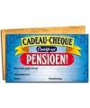 Cadeau cheque voor een gepensioneerde