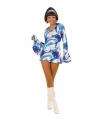 Blauw carnaval hippie jurkje dames