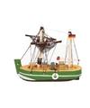 Maritieme decoratie vissersboot groen