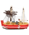 Maritieme decoratie vissersboot rood