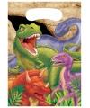 Dinosaurus thema uitdeelzakjes 8 stuks