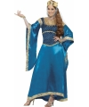 Lange blauwe verkleed jurk dames