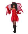 Vampieren jurkje rood dames