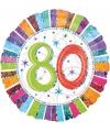 Helium folie ballon 80 jaar
