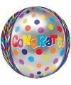 Folie ballon gefeliciteerd 40 cm