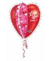 Folie ballon hartjes love you 76 cm