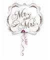 Folie ballon Mr and Mrs 63 cm