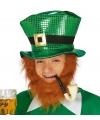 Groene hoed van glansstof