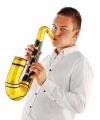 Saxofoon opblaasbaar goud