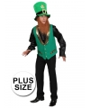 Grote maten St Patricks Day kabouter outfit voor heren