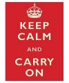 Nostalgisch bord Keep Calm