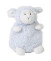 Pluche blauw lammetje knuffeltje 16 cm zittend