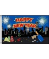 Feest vlag Happy New Year