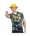 Hawaii shirt fotoprint toerist voor heren