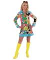 Carnaval Hippie jurk bloemen