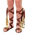 Bruine holbewoner sandalen met fleece