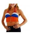 Bikini top voor dames rood, wit, blauw