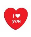 I love you rood blikje snoep