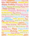 Rol kadopapier Happy Birthday 70 x 200 cm