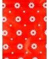 Rol kadopapier rood bloemen 70 x 200 cm