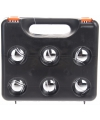 6 ballen Jeu de Boueles in zwarte plastic koffer