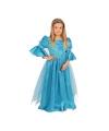 Lange sprookjes prinsessen jurk blauw