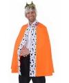 Luxe verkleed cape oranje