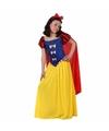 Luxe sprookjesprinses kostuum met cape