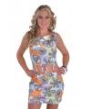 Dames jurk met peace tekens