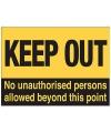Bewakings bordje verboden toegang
