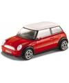 Speelgoed auto Mini Cooper rood 1:43