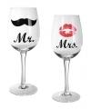 Bruiloft wijnglazen 22,5 cm