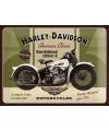 Nostalgisch muurplaatje Harley Davidson 30 x 40 cm