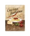 Italiaanse pasta decoratie bord