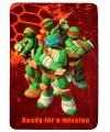 Ninja Turtles fleecedeken rood