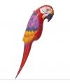 Decoratie papegaai 120 cm