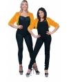 Oranje jaren 50 bontjasje voor dames