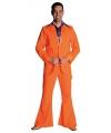 Oranje pak met wijde broekspijpen