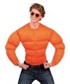 Oranje bodybuilder kostuum